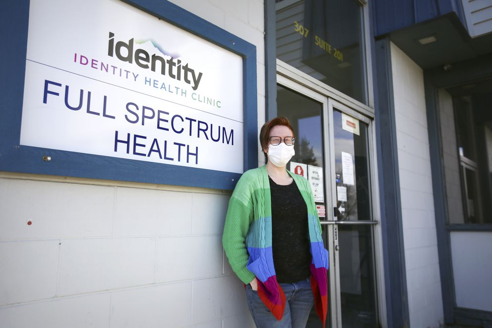 Clinical director Tracey Wiese at Identity Health Clinic in Anchorage on Thursday, April 1, 2021. (Emily Mesner / ADN)