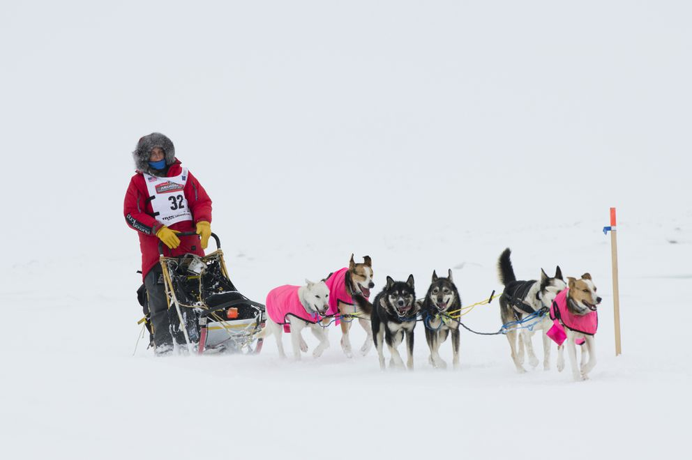 Mille Porsild approaches Nome. (Marc Lester / ADN)