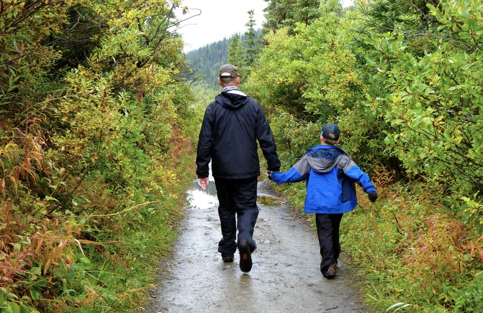 When hiking in bear country with children, always make sure an adult is within reach at all times. (Erin Kirkland)