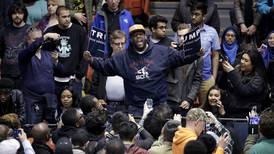 Trump rally is canceled amid violent scuffles