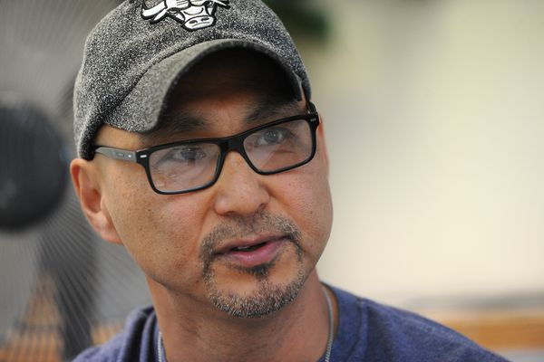 Leonard Olrun, the first chief of the Alaska Nations Re-Entry Group, talks about the program in Anchorage, Alaska on Tuesday, August 8, 2017. (Bob Hallinen / Alaska Dispatch News)