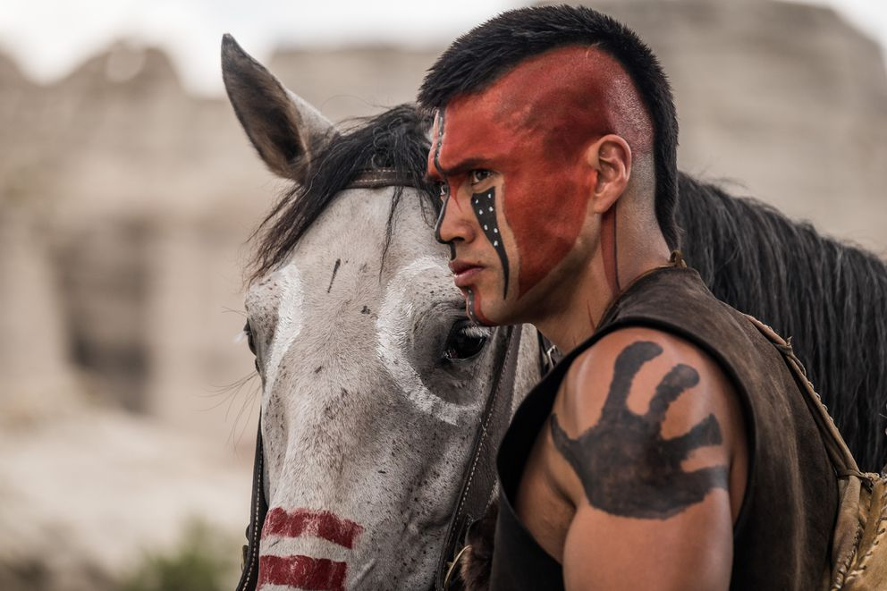 "Martin Sensmeier in ""The Magnificent Seven."" (Sony Pictures Entertainment)"