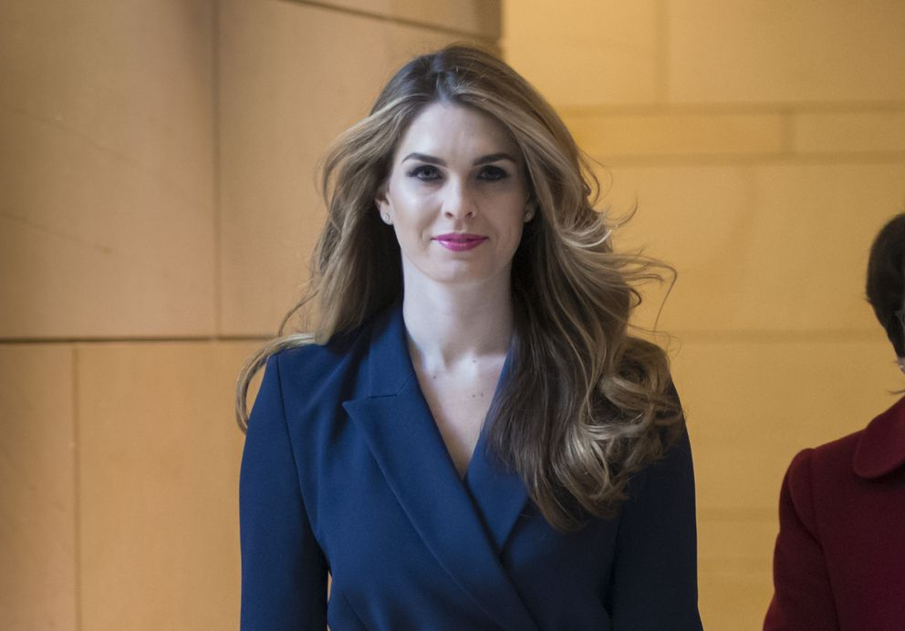 FILE - In this Feb. 27, 2018 photo, then-White House Communications Director Hope Hicks arrives to meet behind closed doors with the House Intelligence Committee, at the Capitol in Washington. Hicks has agreed to a closed-door interview with the House Judiciary Committee, according to two people familiar with the deal. (AP Photo/J. Scott Applewhite, File)