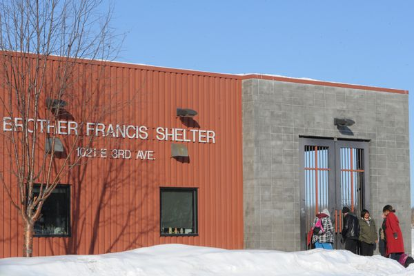 The Brother Francis Shelter on Wednesday, March 11, 2020. Homeless people are one of the most vulnerable populations during the global outbreak of COVID-19. (Bill Roth / ADN)