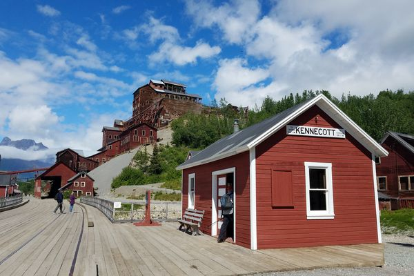 The abandoned town of Kennecott is now a national historical landmark and offers interesting options for hiking and history. (Erin Kirkland)