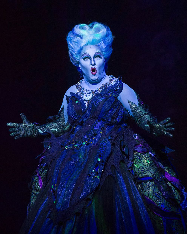 Jennifer Allen as Ursula in 'Disney's The Little Mermaid ' (Photo by Bruce Bennett, Courtesy of Theatre Under The Stars)