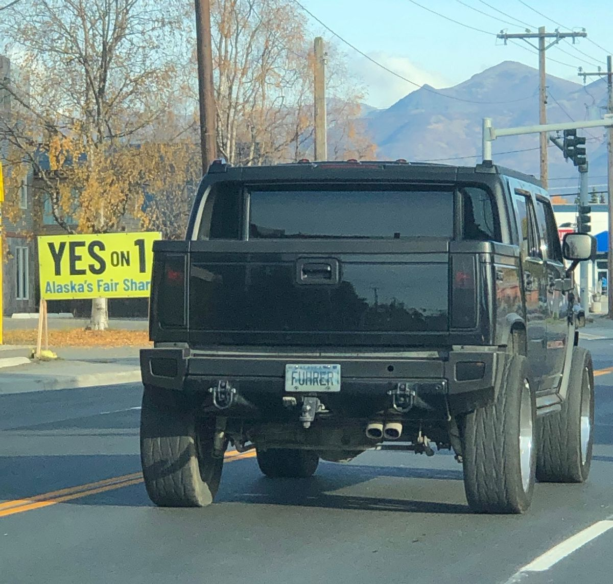 In October 2020, Anchorage resident Eva Gardner saw a black Hummer SUV with the license plate