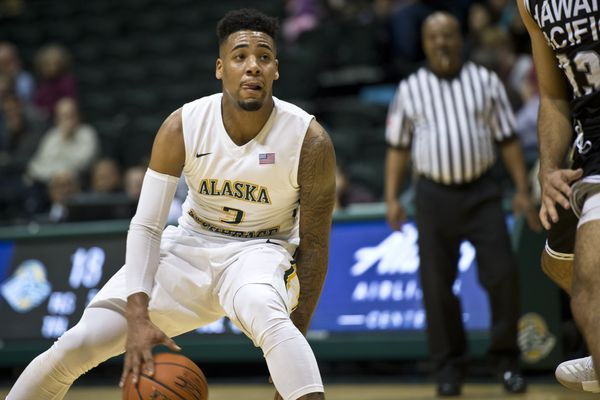 UAA's Malik Clements handles the ball. UAA men's basketball played Hawaii Pacific University on the first day of the Alaska/Hawaii challenge Nov. 10, 2017. (Marc Lester / Alaska Dispatch News)