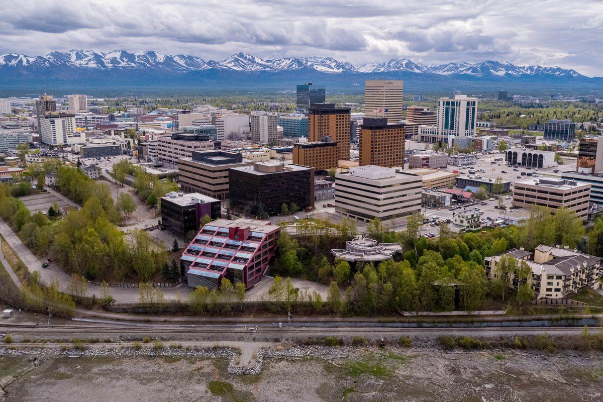 Downtown Anchorage, Alaska, photographed on Saturday, May 22, 2021. (Loren Holmes / ADN)