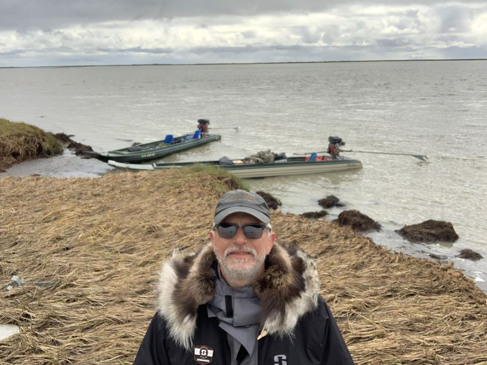 Jon Dobbs arrives at the Bering Sea on August 25th, after nearly 25 days on the Yukon. (Photo by Jon Dobbs)