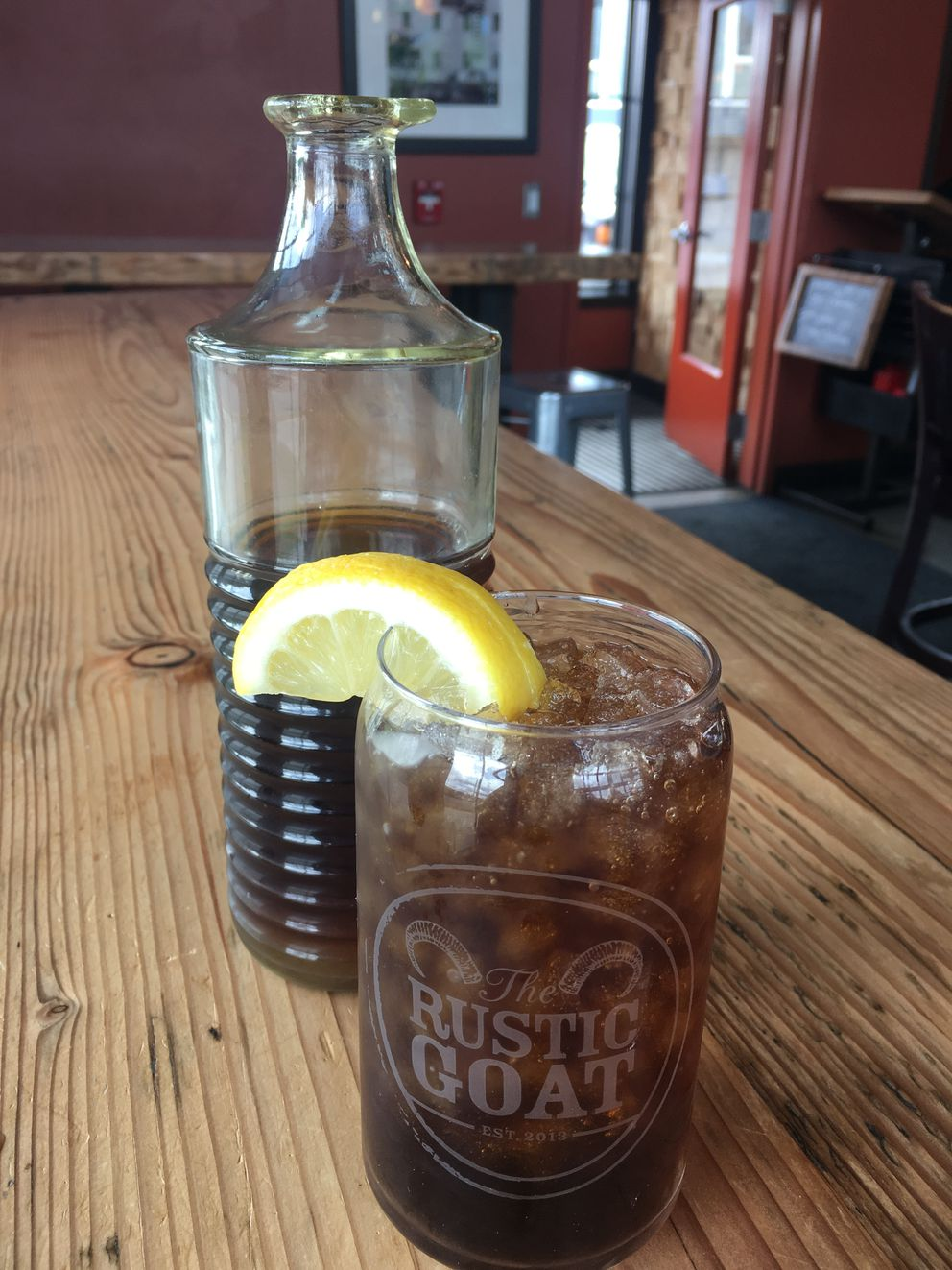Iced tea at Rustic Goat in West Anchorage. (Photo by Mara Severin)