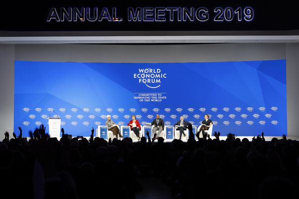Because of the shutdown, the United States government did not send a delegation to Davos this year. Bloomberg photo by Jason Alden