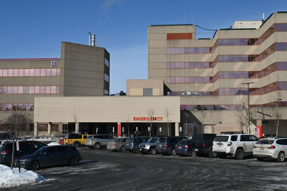 Alaska Regional Hospital on Sunday, March 15, 2020. (Bill Roth / ADN)