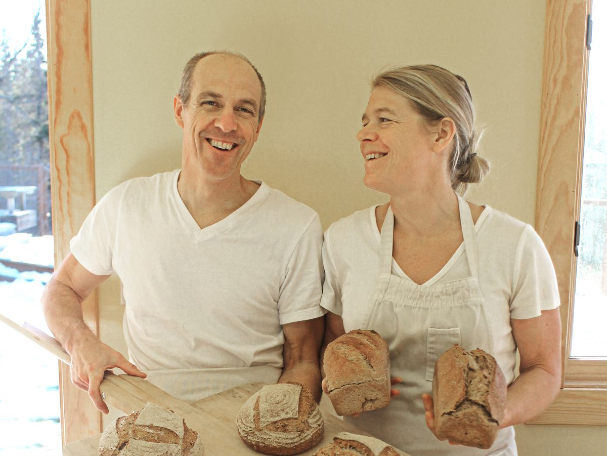 Dan Schwartz and Alison Arians, owners of Anchorage's Rise and Shine Bakery. (Bailey Berg / Alaska Dispatch News)