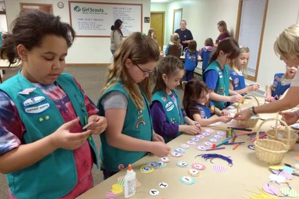 Farthest North Girl Scout troop activity. (Photo provided by Farthest North Girl Scout Council)