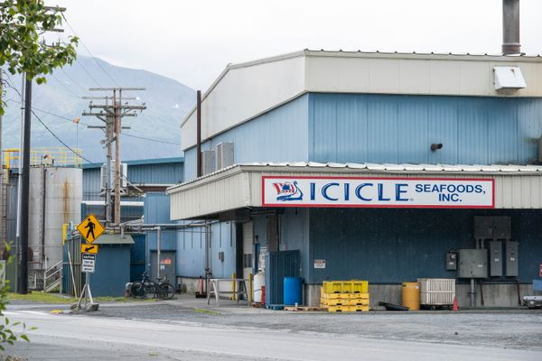The OBI seafood processing plant in Seward, photographed on Wednesday, July 22, 2020. (Loren Holmes / ADN)