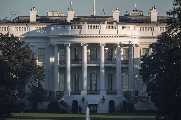 The White House in Washington, is seen early Sunday, Nov. 8, 2020, the morning after incumbent President Donald Trump was defeated by his Democratic challenger, President-elect Joe Biden. (AP Photo/J. Scott Applewhite)