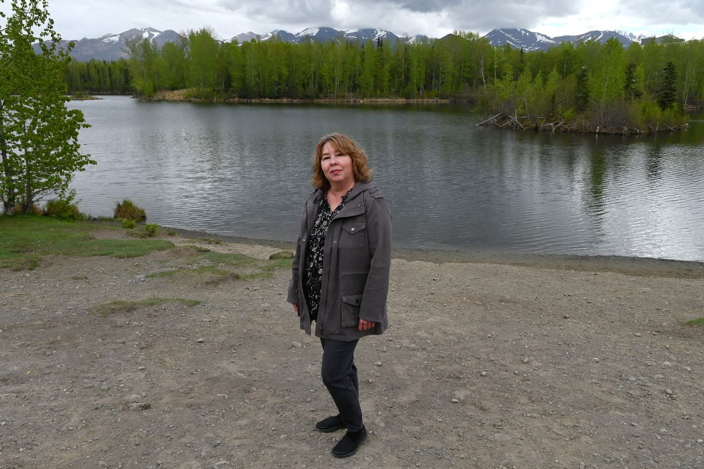 Keeley Olson joined Standing Together Against Rape (STAR) in 2007 as program director and became the executive director in 2015. Olson studied social work in Montana and has spent her career in the area of domestic violence and sexual assault in Montana, Washington and Alaska. Photographed at University Lake on Tuesday, May 19, 2020. (Bill Roth / ADN)