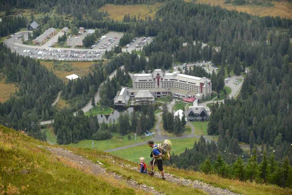 North Face Trail at Alyeska Resort in Girdwood. (Bob Hallinen / ADN)