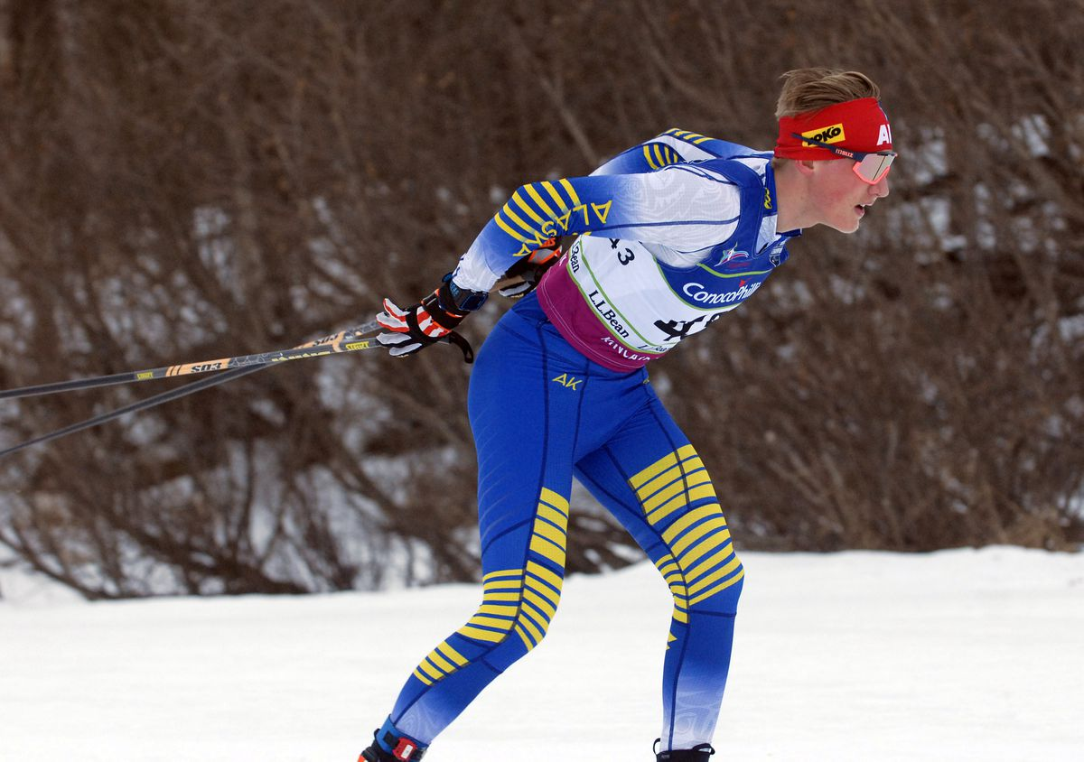 Gus Schumacher, shown here at the 2019 U.S. Junior Nationals at Kincaid Park, is one of nine Alaskans headed to the U23 and World Junior cross-country ski championships. (Matt Tunseth / ADN archives)