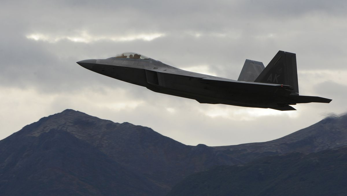 F-22 Raptors could be seen in the air over Joint Base Elmendorf-Richardson. (Bill Roth / ADN archive 2011)