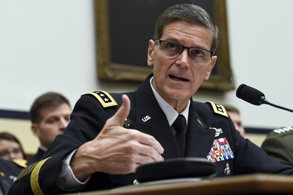 U.S. Central Command Commander Gen. Joseph Votel testifies before the House Armed Services Committee on Capitol Hill in Washington, Thursday, March 7, 2019. (AP Photo/Susan Walsh)