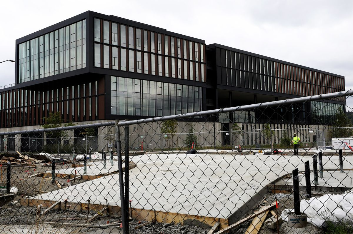 REI is selling its never-used headquarters in the Spring District of Bellevue, Washington. (Alan Berner/Seattle Times/TNS)