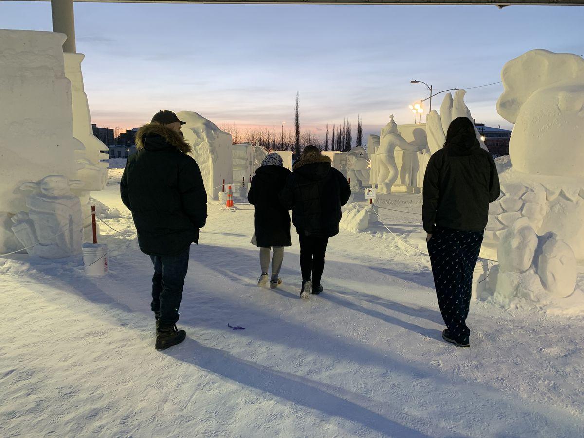 Alaska Behavioral Health clients on a community outing in Anchorage. (Alaska Behavioral Health photo)