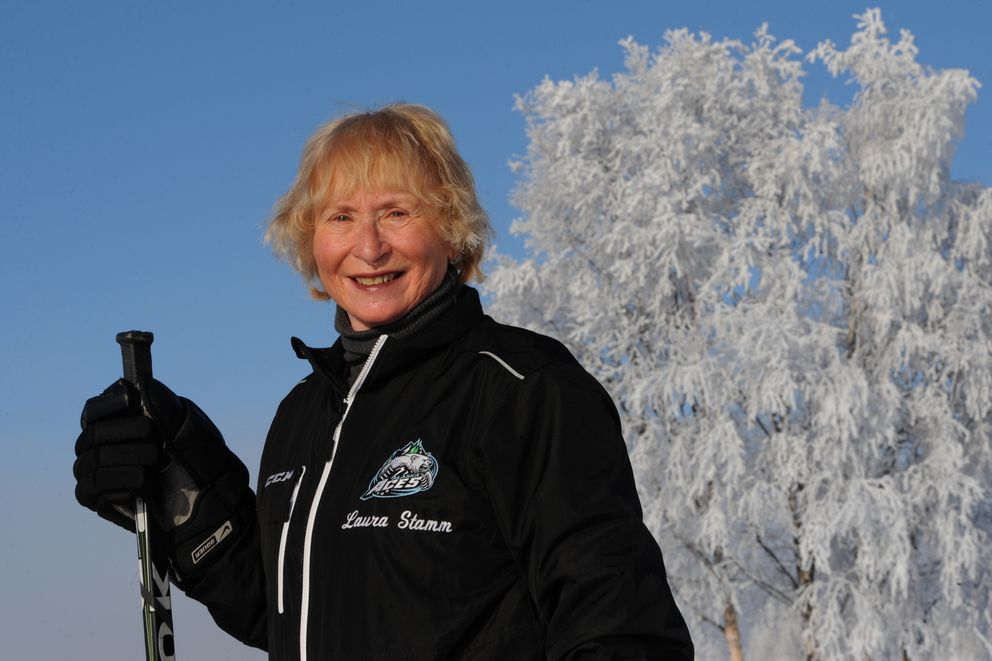 Laura Stamm offers technique training for hockey skating and has worked with players in the NHL, minor leagues, college, on down to 8-year-olds since 1972. (Bill Roth / Alaska Dispatch New