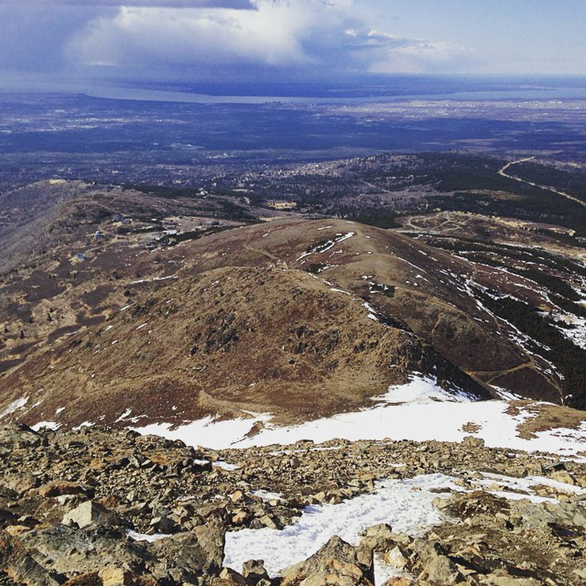 The view from partway up Flattop Mountain on April 28, 2015. (Vicky Ho / Alaska Dispatch News)