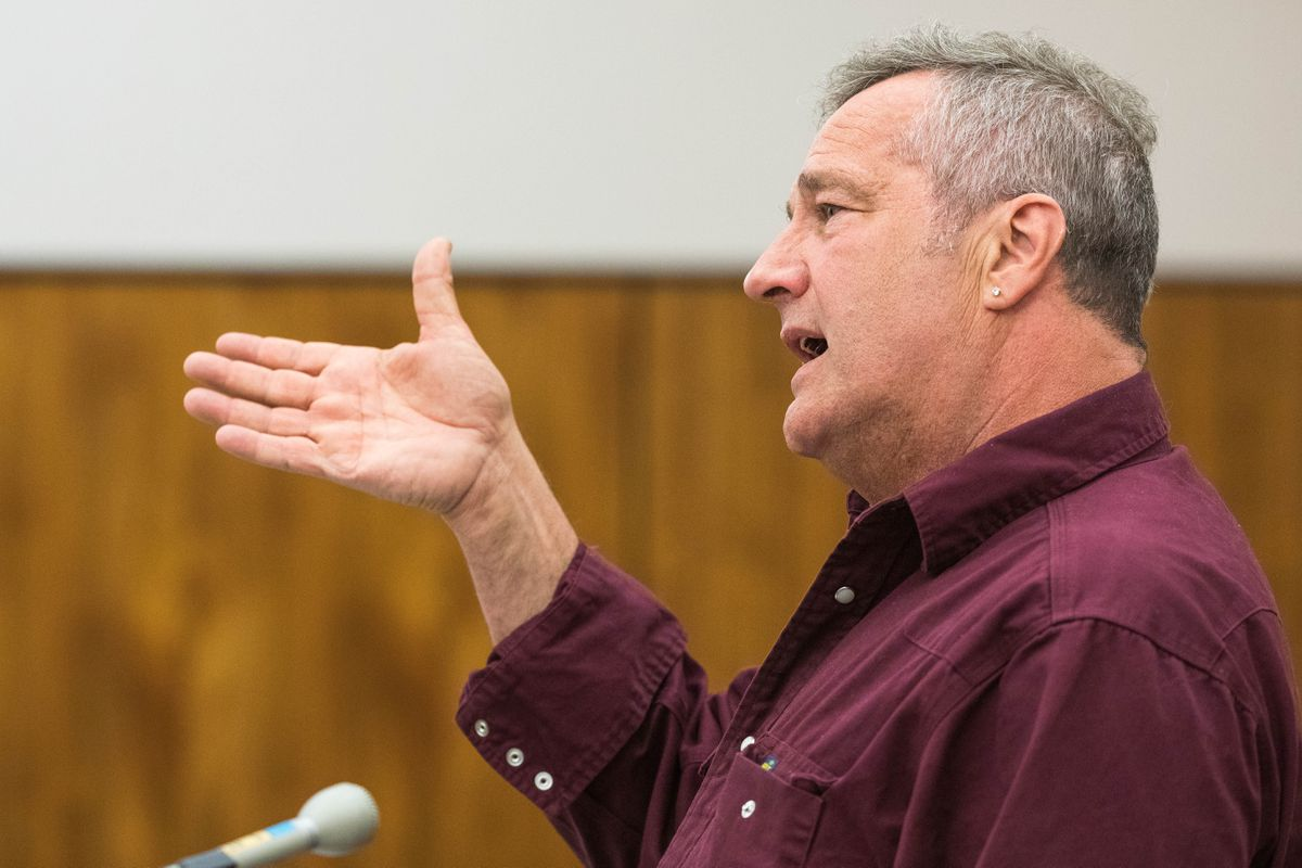 Ron Alleva speaks during his sentencing hearing on May 21. (Loren Holmes / ADN)