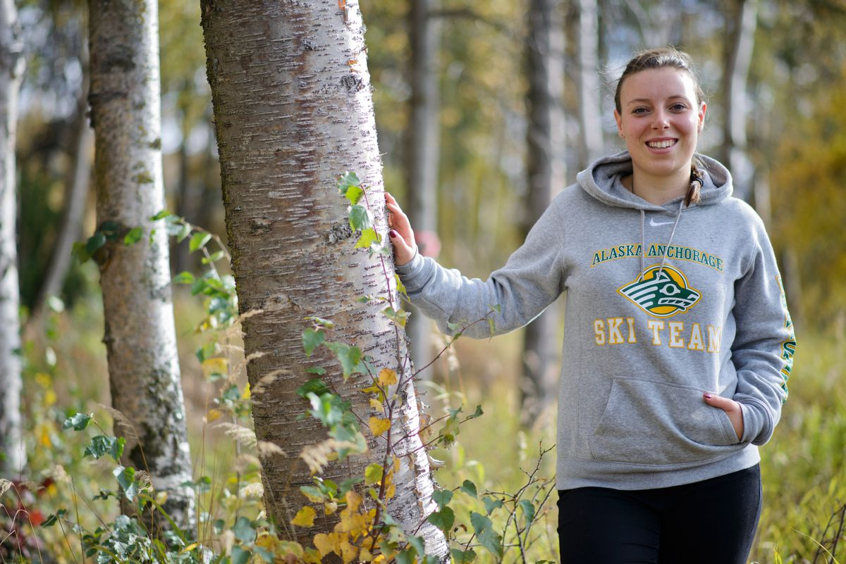 UAA alpine skier Charley Field always wanted to come to Alaska, and she landed a scholarship at UAA. She keeps a 3.86 GPA as a junior, but remainingat UAA may hinge on whether the school hasa ski team after this school year. (Marc Lester / Alaska Dispatch News)