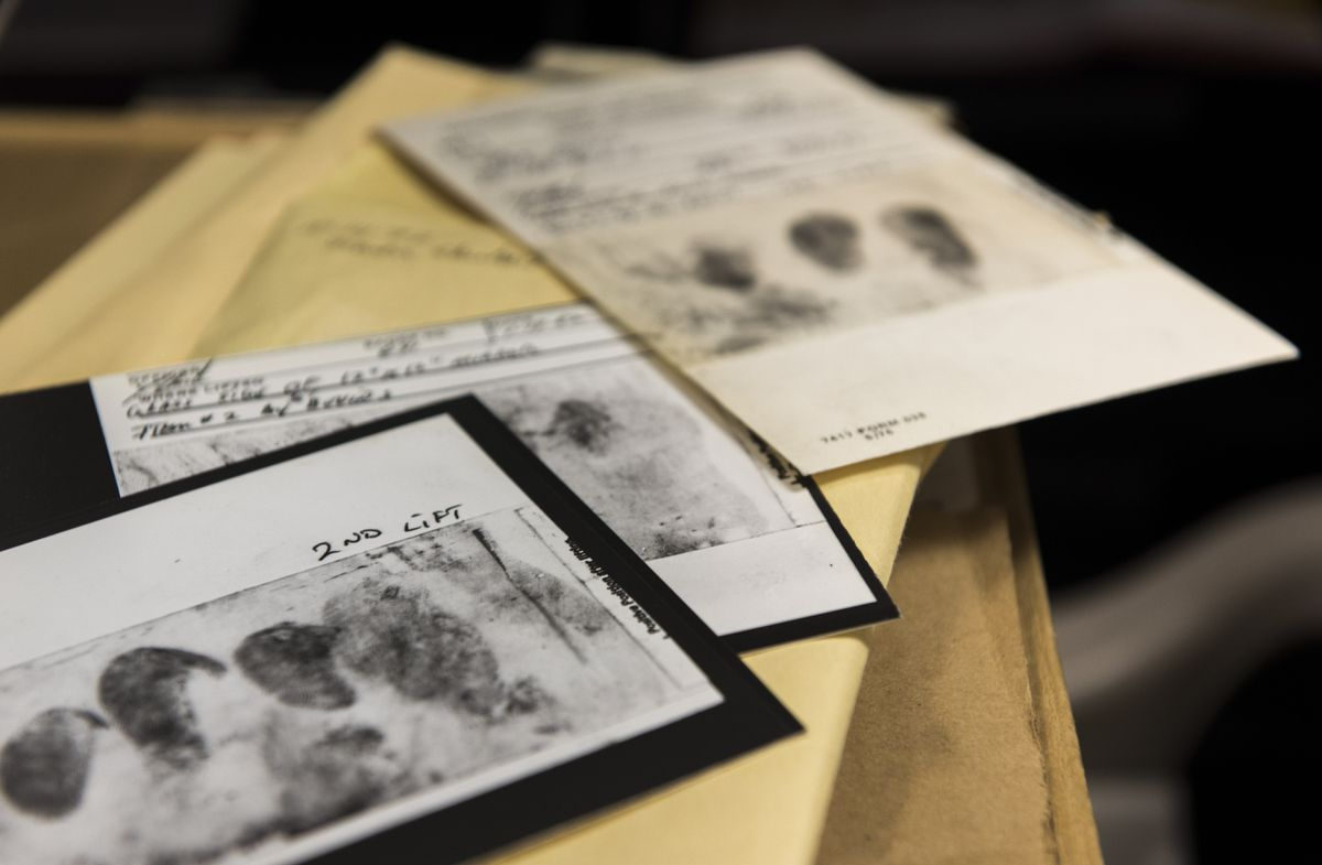 In an undated photo released by the FBI, documents related to the decades-long investigation into a serial killer and rapist, known variously as the Golden State Killer, the East Area Rapist or the Original Night Stalker, who terrorized California in the 1970s and 1980s. (Federal Bureau of Investigation via The New York Times)