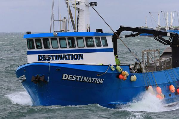 The search continued on Sunday, Feb. 12, 2017, for the 92-foot fishing vessel Destination, which went missing with six people aboard in the Bering Sea. The Destination sent out an emergency beacon on Saturday morning from a position about 2 miles northwest of St. George island. (Jack Molan Photography)