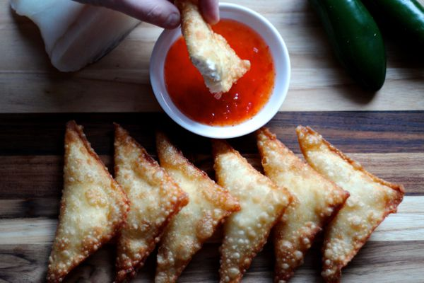 Spicy halibut and cream cheese wontons (Maya Wilson / Alaska from Scratch)
