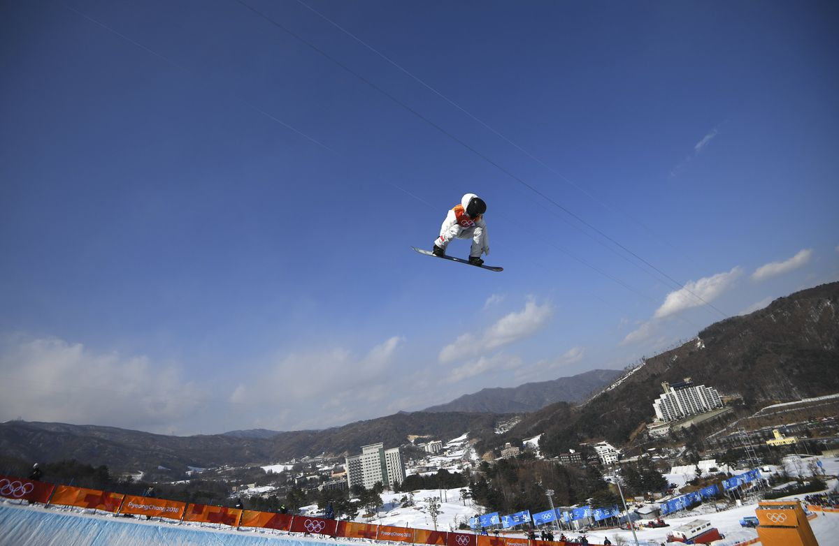 Shaun White of the U.S. competes at the Winter Olympics. REUTERS/Dylan Martinez