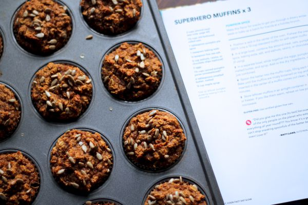 Pumpkin spice superhero muffins. (Photo by Maya Wilson/Alaska From Scratch)