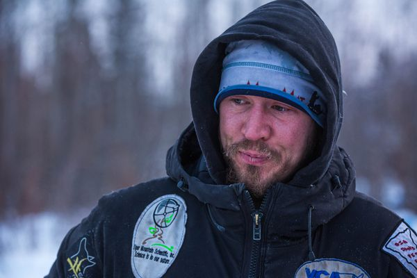 Brent Sass during the 2015 Iditarod Sled Dog Race.
