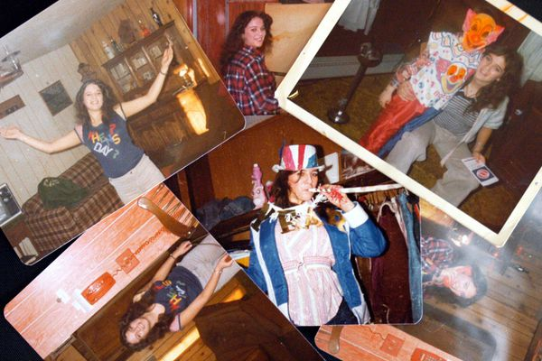 Shelley Connolly, who was murdered in 1978, is seen in this collage of pictures. The pictures were all taken between August 1977 and New Year day 1978. Photographed 23 June 23, 2006. (Joshua Borough / ADN)