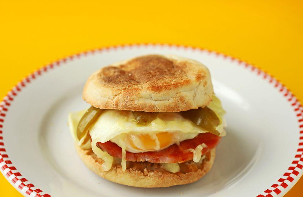Breakfast sandwich. (Christian Gooden/St. Louis Post-Dispatch/TNS)