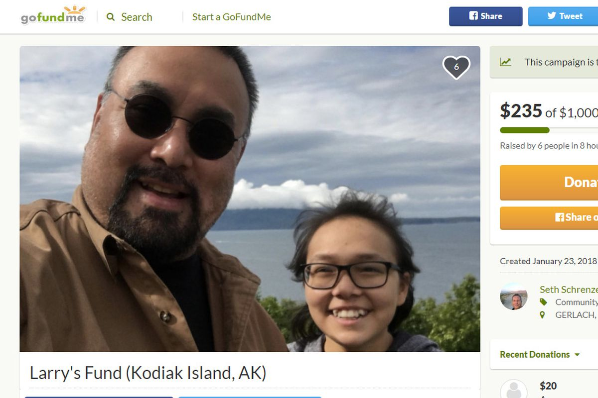 Seth Schrenzel created a GoFundMe campaign for Larry Pestrikoff of Ouzinkie, Alaska. Larry livestreamed the events following the tsunami warning after the magnitude 7.9 earthquake southeast of Kodiak early Tuesday morning.