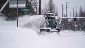 Season's biggest snowstorm drops more than a foot of snow in some parts of Anchorage