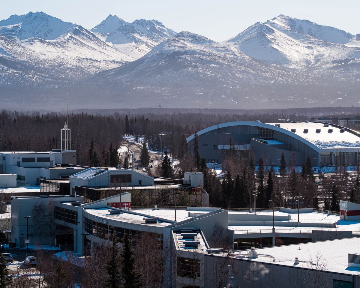 Buildings on the campus of the University of Alaska Anchorage. (Loren Holmes / ADN)