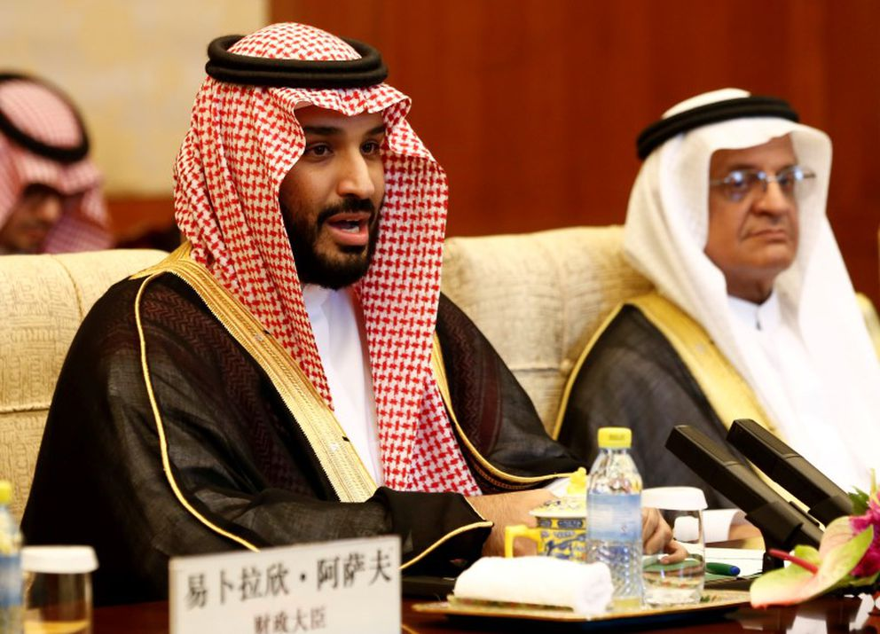 Saudi Arabia's Deputy Crown Prince Mohammed bin Salman attends a meeting with Chinese President Xi Jinping and ahead of the G20 summit, in Beijing, August 31, 2016. (Rolex Dela Pena / Reuters pool)