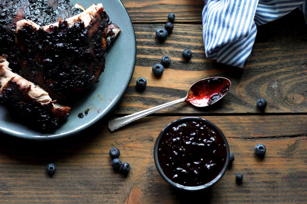 Blueberry bourbon babyback ribs (Maya Wilson / Alaska from Scratch)