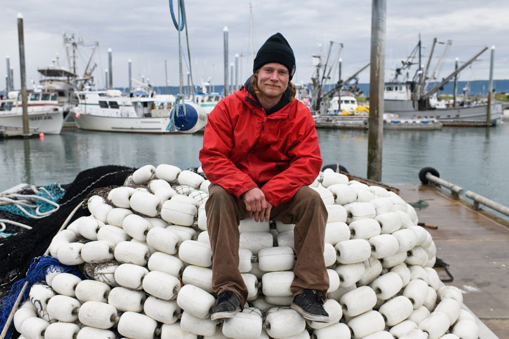 Commercial fishing deckhand Willie Nelson plans to work on the 52-foot seiner Quest this summer. Nelson, 32, is a professional big mountain skier in winter. Photographed on June 20, 2018.(Marc Lester / ADN)