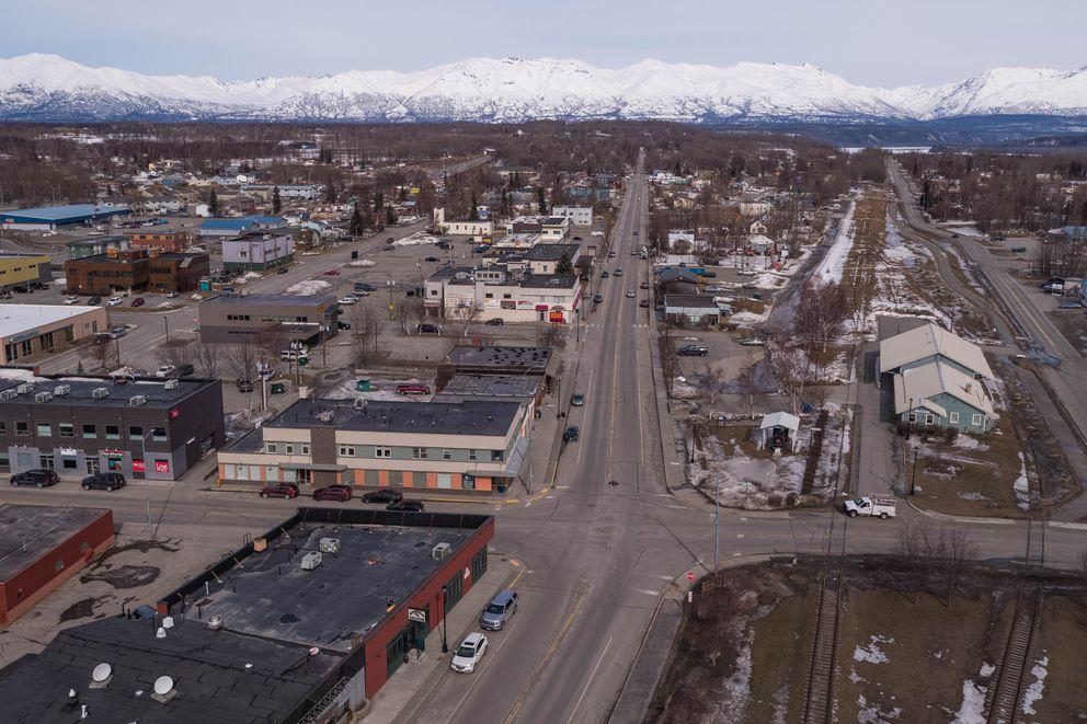 Downtown Palmer, Alaska on Wednesday, April 8, 2020. (Loren Holmes / ADN)