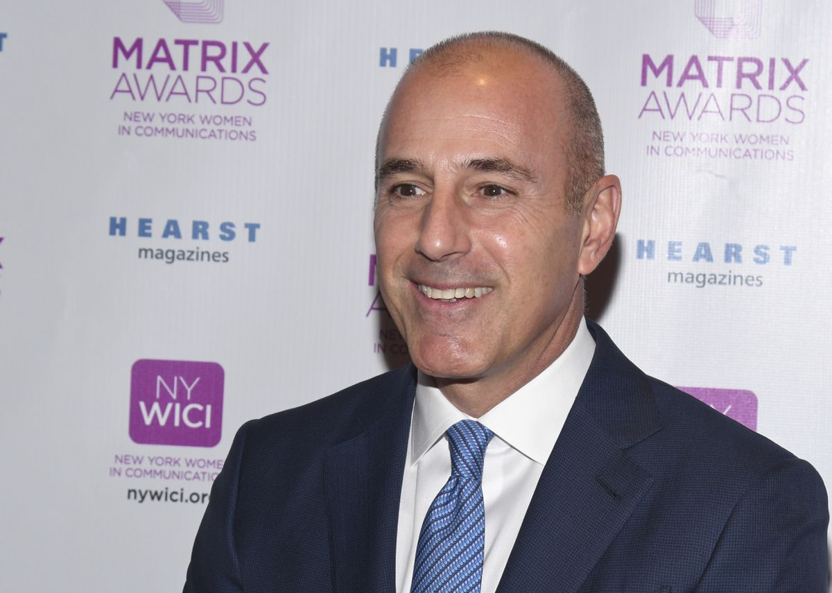 Matt Lauer attends the Matrix Awards, hosted by New York Women in Communications, at the Sheraton Times Square on Monday, April 24, 2017, in New York. (Photo by Charles Sykes/Invision/AP)