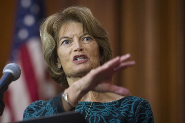 Sen. Lisa Murkowski, R-Alaska, speaks after an order withdrawing federal protections for countless waterways and wetland was signed, at EPA headquarters in Washington, Tuesday, Dec. 11, 2018. (AP Photo/Cliff Owen)