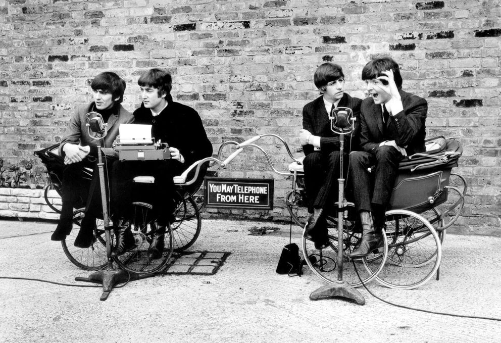"The Beatles, from left: George Harrison, John Lennon, Ringo Starr and Paul McCartney in the 1964 film ""A Hard Day's Night."" (Miramax Films/The New York Times file)"